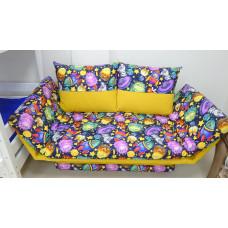 Диван-кровать Улыбка монстры желтые