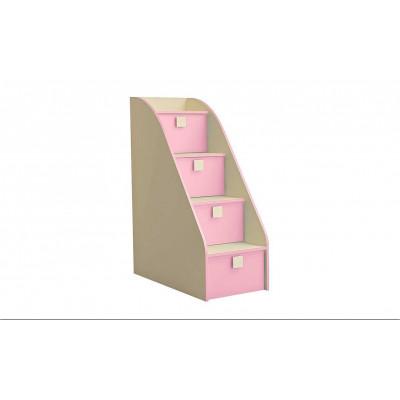Лестница-комод Радуга Фламинго
