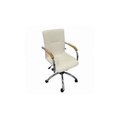 Кресло для руководителя Самба G кремовый