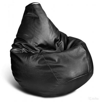 """Кресло-мешок """"Черная кожа"""" Размер-XL от производителя"""