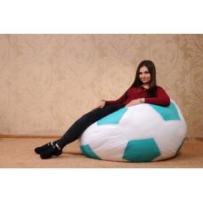 Кресло-мяч (белый/мятный)