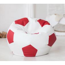 Кресло-мяч (белый/красный)