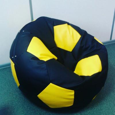 Кресло-мяч, эко кожа (желтый/черный) от производителя