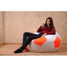 Кресло-мяч , белый/яркий оранж