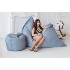 Кресло-подушка, серый
