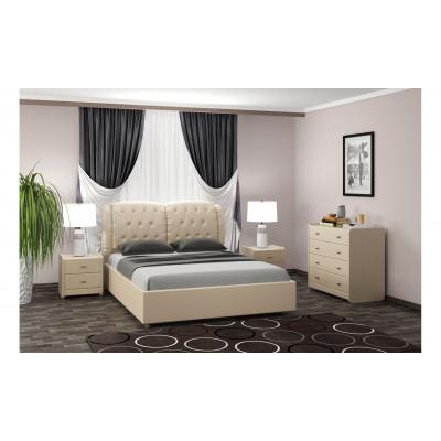 """Кровать с мягким изголовьем """"Монако"""""""