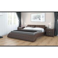 """Кровать с мягким изголовьем """"Аврора"""" шоколад"""
