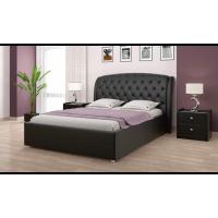 """Кровать с мягким изголовьем """"Ева"""" черная"""