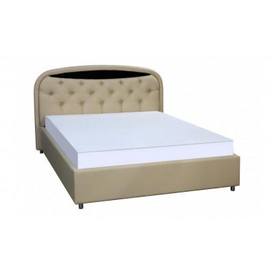 """Кровать с мягким изголовьем """"Валенсия-1"""" бежевая"""