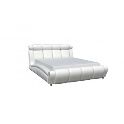 """Кровать с мягким изголовьем """"Прадо-1"""" белая"""