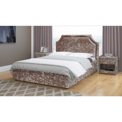 """Кровать с мягким изголовьем """"Беатрис"""" от производителя Браво Мебель"""