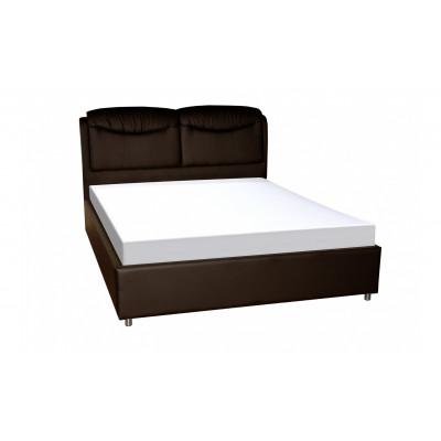 """Кровать с мягким изголовьем """"Бавария"""" шоколад"""