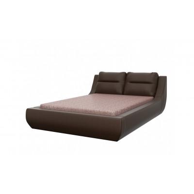 """Кровать с мягким изголовьем """"Мишель"""" шоколад"""