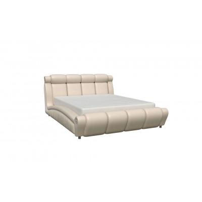 """Кровать с мягким изголовьем """"Прадо-1"""" бежевая"""
