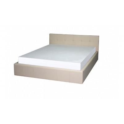 """Кровать с мягким изголовьем """"Герта"""" бежевая"""