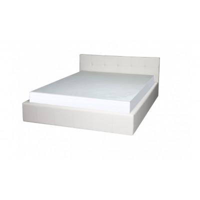 """Кровать с мягким изголовьем """"Герта"""" белая"""