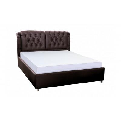 """Кровать с мягким изголовьем """"Монако"""" шоколад"""