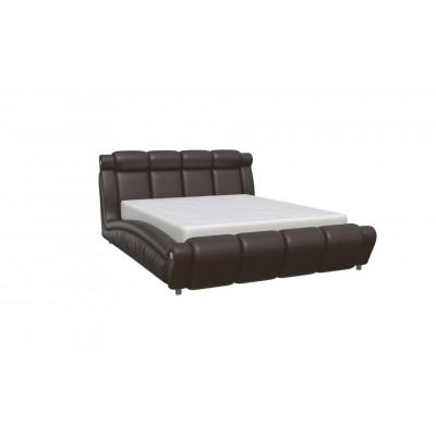 """Кровать с мягким изголовьем """"Прадо-1"""" коричневая"""