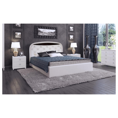 """Кровать с мягким изголовьем """"Валенсия-1"""""""