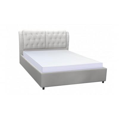 """Кровать с мягким изголовьем """"Монако"""" белая от производителя Браво Мебель"""