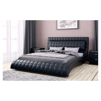 """Кровать с мягким изголовьем """"Вирджиния"""" черная"""