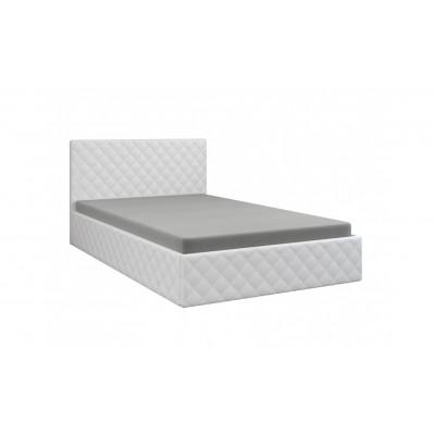 """Кровать с мягким изголовьем """"Рондо"""" белая"""