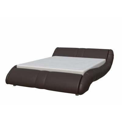 """Кровать с мягким изголовьем """"Элиза"""" шоколад"""