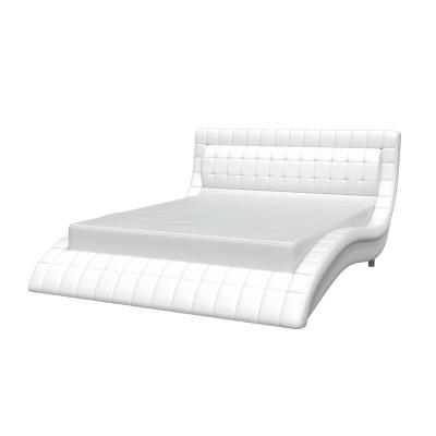 """Кровать с мягким изголовьем """"Вирджиния"""" белая"""