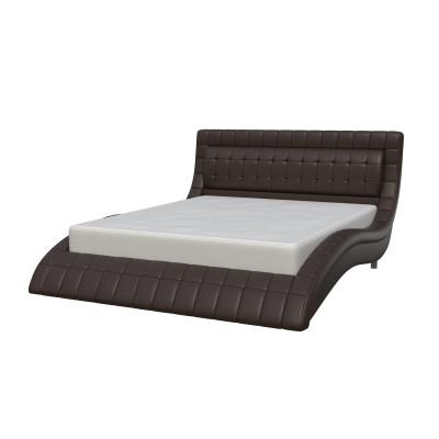 """Кровать с мягким изголовьем """"Вирджиния"""" шоколад"""