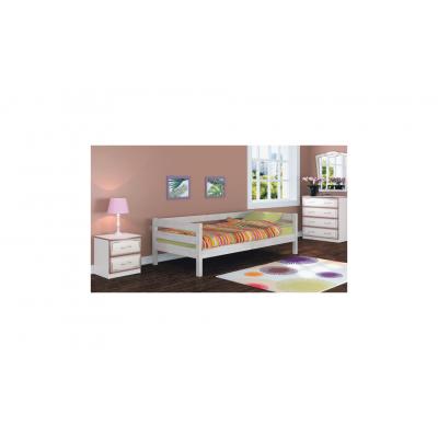 """Кровать """"Глория"""" (односпальная 0900х2000 мм) античный белый"""