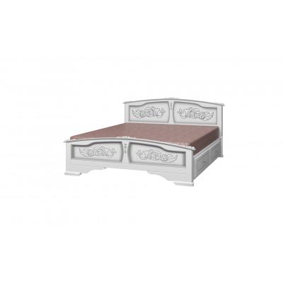"""Кровать """"Елена"""" (с ящиками) белый жемчуг"""