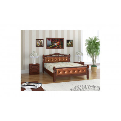 """Кровать """"Карина-11"""" орех, экокожа"""