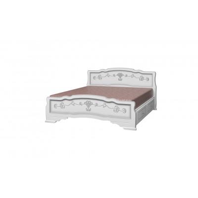 """Кровать """"Карина-6"""" (с ящиками) белый жемчуг"""