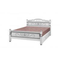 """Кровать """"Карина-5"""" (с ящиками) белый жемчуг"""