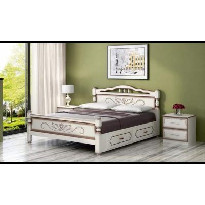 """Кровать """"Карина-5"""" (с ящиками) дуб молочный"""