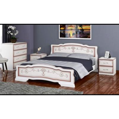"""Кровать """"Карина-6"""" (с ящиками) дуб молочный"""