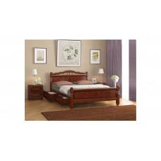 """Кровать """"Карина-5"""" (с ящиками) орех"""