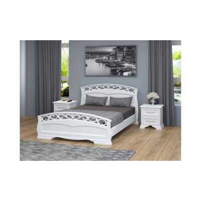 """Кровать """"Грация-1"""" белый античный"""