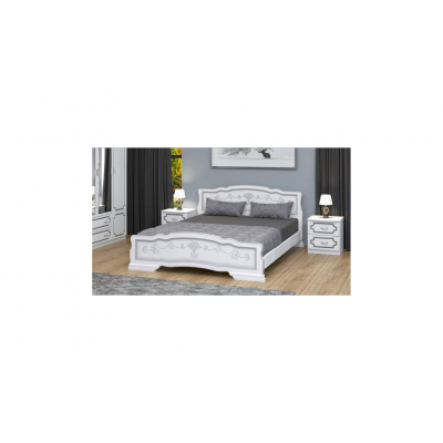 """Кровать """"Карина-6"""" белый жемчуг"""