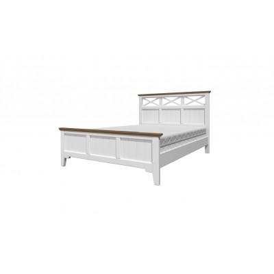 """Кровать """"Грация-5"""" античный белый карниз дуб коньяк от производителя Браво Мебель"""