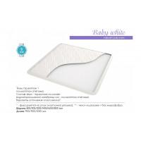 Наматрасник Baby White трикотаж на основе водонепроницаемой мембраны+поликоттон стеганый белый, на резинке