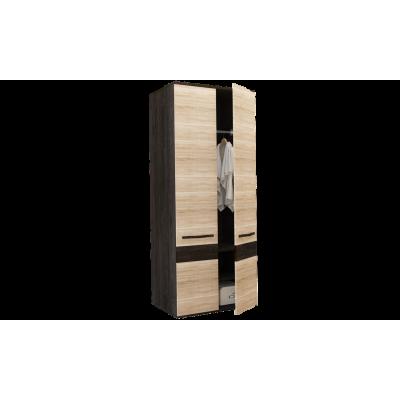 """Шкаф 2-х дверный """"Сапфир"""" кантербери-сонома от производителя Горизонт"""