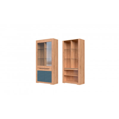 Шкаф с витриной ШР-2 Римини от производителя Браво Мебель
