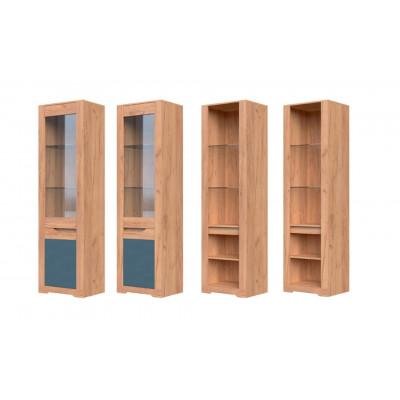 Шкаф с витриной ШР-1 Римини от производителя Браво Мебель