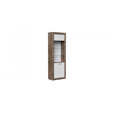Шкаф с витриной 1-дв. Бергамо