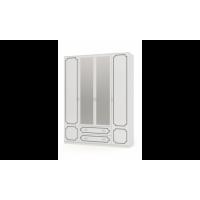 Шкаф ШР-4 Лакированный Белый жемчуг