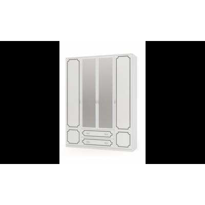 Шкаф ШР-4 Лакированный Белый жемчуг без зеркала