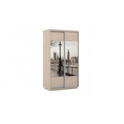 Шкаф-купе Честер 1200 дуб молочный, Лондон от производителя Браво Мебель