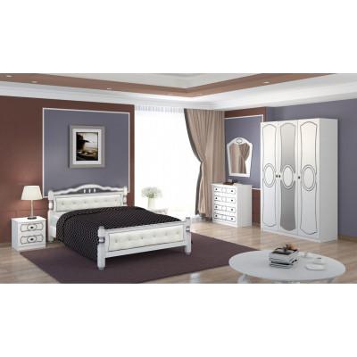 Спальный гарнитур Идиллия белый жемчуг
