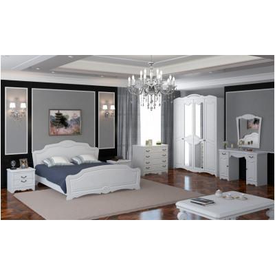 Спальный гарнитур Лотос белый глянец